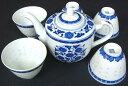 中国茶を楽しむための茶器セットです♪景徳鎮製高級ホタル焼茶器セット【10倍ポイント】【期間...