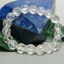 綺麗な薔薇の形に天然水晶を彫刻したブレスレット♪恋愛運アップのパワーストーン(天然石)AA...