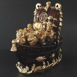 開運の七福神に鶴亀、金銀財宝のたっぷり載った程良いサイズの宝船。縁起物ビッシリでオススメ...
