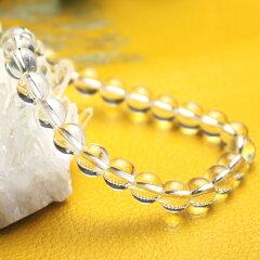 万能の幸運石!気を清め、癒しの天然水晶のパワーストーン(天然石)AA級ブレスレット♪天然水...