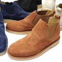 サイドゴアブーツ 本革 クレープソール 靴 スエード/アンティバ/カジュアルブーツ 靴 メンズ 紳士 男性/AN9400 [スエード/本革 ブーツ メンズ/ベロア/ショートブーツ/ブラック/ナチュラル/レザー/天然クレープ底]