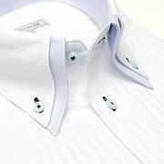 デザイン ワイシャツ ヒューズ ビジネス ストライプ カッターシャツ