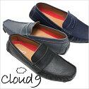 【あす楽対応】【送料無料】クラウドナインドライビングシューズメンズ本革ビジネスシューズ[cloud9紳士靴](cloud9靴ドライビングシューズ)メンズ靴/CND-3001[ビジネス紳士靴男性用スリッポン本革ローファー黒紺]