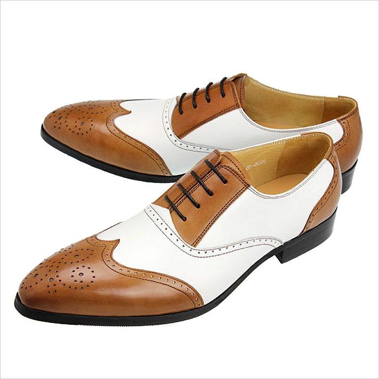ルシウス靴LUCIUS革靴LUCIUS 靴 ルシウス 革靴 紳士靴 メンズ 男性用/LLT162BRNWHT 牛革 ビジネスシューズ 本革  ドレスシューズ 靴 ビジネス 結婚式 シューズ 革靴