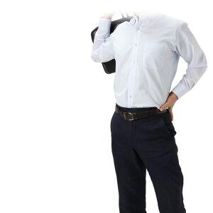 ワイシャツ 長袖 1枚からOK 形態安定 あす楽 【HYBRIDWORK ハイブリッドワーク】 ワイシャツ5枚セット シャツ メンズ 紳士 長袖ワイシャツ メンズ ボタンダウン ワイド 白 青 ホワイト ブルー カッターシャツ ビジネス 会社 スーツ