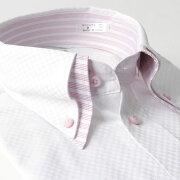 デザイン ワイシャツ ヒューズ ビジネス ホワイト ストライプ カッターシャツ