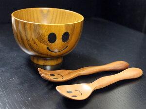 木製汁椀ニコペロキッズ椀子供用ウインク椀スリ漆(汁碗・お碗・お椀)