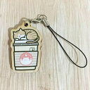 猫 キーホルダー 「ホット珈琲猫ウッドキーホルダー」 イラストレーター とき プレゼント 【ラッキーシール対応】
