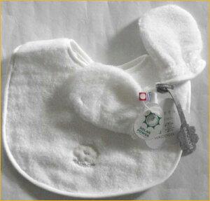 スタイとミトンセット 涎掛け タオル製 今治タオル 無撚糸タオル製 白雲 ベビー用品 日本製 ギフトセット 出産祝いやギフトにもどうぞ