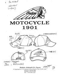 送料無料IndianMotocycle尾園デザイナー別注モデルインディアンモトサイクルメッシュキャップキャップメンズレディース帽子IN180705