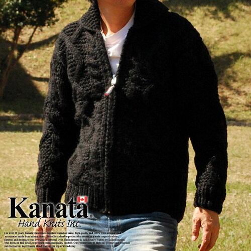 Kanata カナタ カウチンセーター メンズ レディース ジャケット BLACK■041...