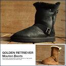 羊革使用ムートンブーツエンジニア本革メンズボアブーツシューズ靴シープスキンブーツ靴くつシューズメンズ靴GR1897全2色