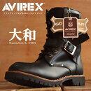 AVIREXアビレックスブーツメンズ正規品アヴィレックスYAMATOエンジニアサイドジップ本革ブーツレザーミリタリーヤマト全3色AV2100