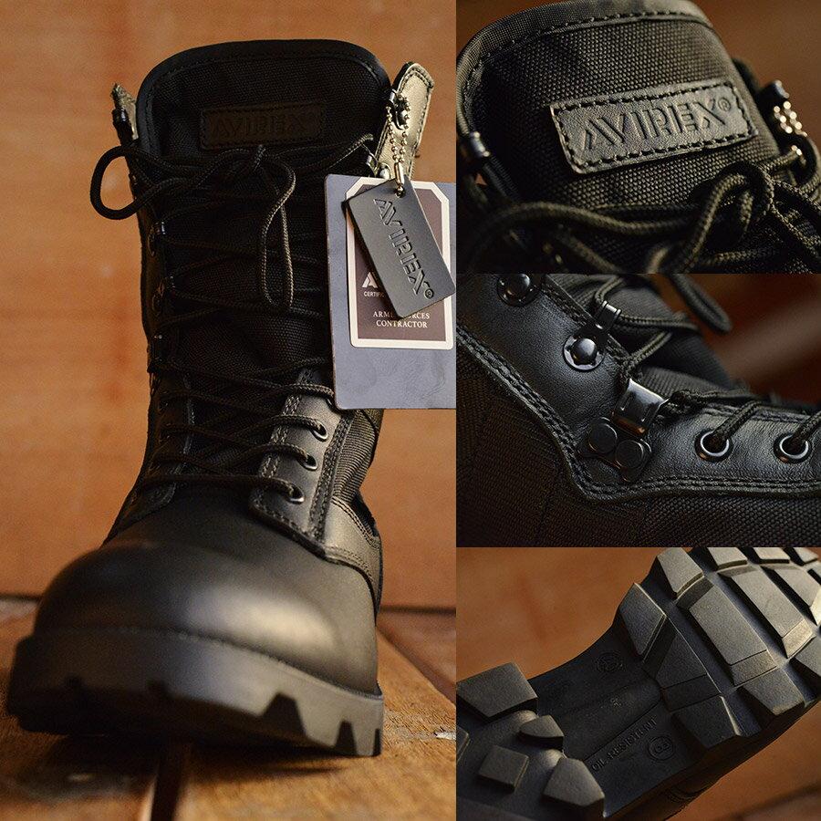 COMBAT 本革 ミリタリー ブーツ AVIREX U.S.A. (アビレックス) AV2001 メンズ レディス【Y_KO】■05161103