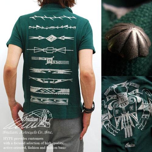 ポロシャツ メンズ ポロ Indian インディアンモトサイクル 鹿の子ポロシャツ メンズ トップス メン...