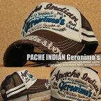 APACHE INDIAN Geronimo's 7683-911 クラッシュ加工 メッシュキャップ キャップ 帽子 メンズ 刺繍 GAZ 180614