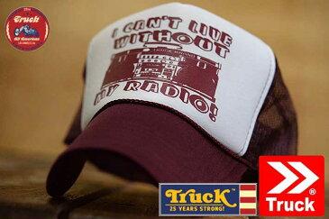TRUCK BRAND キャップ メンズ メッシュキャップ レディース トラックブランド 帽子 プリント ロゴ アメカジ S43 RADIO WHITE/MA ホワイト/マルーン