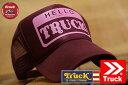 TRUCK BRAND キャップ メンズ メッシュキャップ レディース トラックブランド 帽子 プリント ロゴ アメカジ S30 GEEK MAROON 1