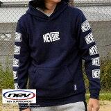 パーカー メンズ ブランド NEVSURF プルオーバー 裏起毛 プルパーカー アメカジ フリース メンズ ネイビー 紺 N48-124 DRI 181101