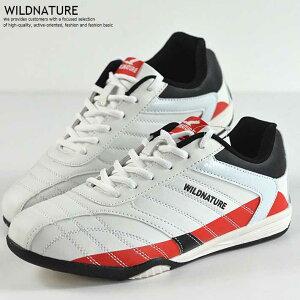 スニーカー メンズ ランニング ウォーキング ドライビング シューズ 靴 メンズ WILDNATURE ホワイト 白 レッド 赤  556 Y_KO 181116-2