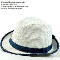 中折れ ハット メンズ 帽子 大きいサイズ対応 春夏秋 こなれ感◎ FEDORA フェドーラ ハット サイズ調節可 Vintage CS7-052L ホワイト