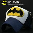 メッシュキャップ メンズ 帽子 BATMAN バッドマン キャップ メンズ レディース 刺繍 プレゼント BS29-108 ネイビー