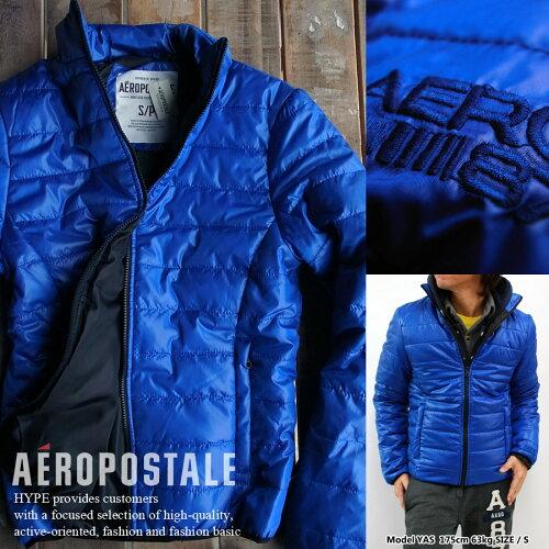エアロポステール 中綿ジャケット 正規品 メンズ ライトジャケット6793-0734-433 ブルーSolid Puff...