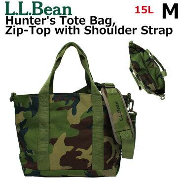L.L. Bean エルエルビーン Hunter's Tote Bag, Zip-Top with Shoulder Strap Camo ハンターズトートバッグ ジップトップ ショルダー ストラップ M カモレディース メンズ 15L A4 502555プレゼント ギフト 通勤 通学 送料無料