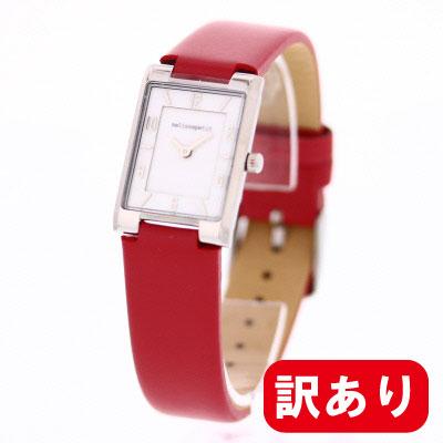 条件付きでMAX1,000OFFクーポン配布中!【訳あり】【アウトレット】【BOXなし】melissapetit / メリッサプティ MPSG01SVPU レディース レザー レッド スクエア 腕時計