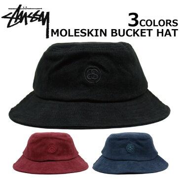 STUSSY/ステューシー MOLESKIN BUCKET HAT/モレスキンバケットハット132781 帽子メンズ/レディース プレゼント/ギフト/通勤/通学