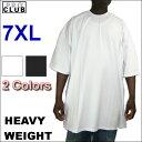 PRO CLUB (プロクラブ) 6.5オンス【全2色】【7XL】[S〜5XLもございます]HEAVY WEIGHT(ヘビーウェイト)PROCLUB 無地/プレーン 半袖Tシャツ(S/S TEE)大きいサイズ メンズ スノボー ウェアスノーボード インナー 作業着M 3L 4L 5L 7L 10L