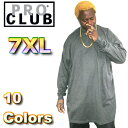 【114】PRO CLUB (プロクラブ) 【全11色】 [あす楽] 7XL サイズ!ヘビーウェイト PROCLUB 無地/プレーン ロングTシャツ (L/S TEE)Pro club 無地 大きい ゆったり 大きいサイズ スノボー ウェア スノーボード インナー 作業着 3L 4L 5L 7L 10L