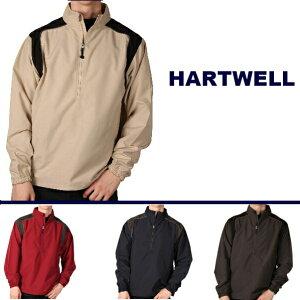 【全4色】HARTWELL BIG MENS NYLON JACKET (ハットウエール)大きいサイズ (3XL〜5XL) ハーフジップ ナイロンジャケット ジャケット シャカシャカ ナイロンジャケット  無地 ジャケット メンズ 大きいサイズ  ウィンドブレカー  LL 2L 3L 4L 5L