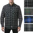 PRO CLUB (プロクラブ) Men's L/S Flannel Button Shirt【全4色】【フラネルシャツ]チェック柄 L/Sシャツ PROCLUB 長袖(ロングスリーブ) ボタンシャツ 小さいサイズ 大きいサイズ メンズ ネルシャツ メキシカン ストリート系 ヒップホップ 作業着LL 2L 3L 4L 5L