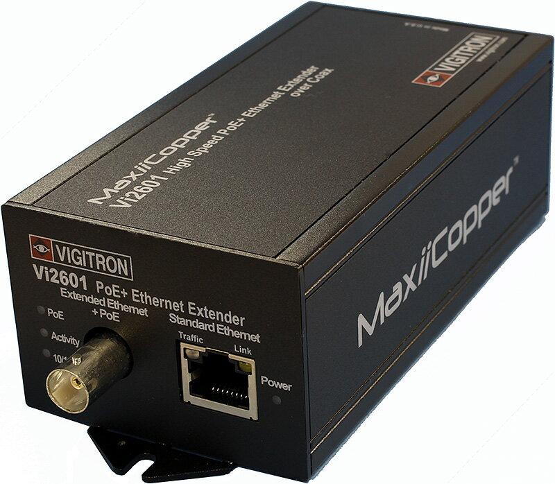 PoEインジェクタ内蔵 同軸ケーブルでPoE(+)延長 MaxiiPower Vi2600シリーズ[Vi2601]【RCP】:ハイテクインターダイレクト