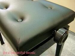 【its】大人気!W57cm/6つボタンの定番ピアノ椅子イトマサAE(黒色)