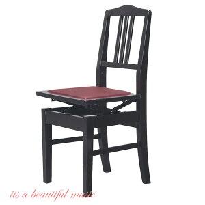 【its】ヤマハ純正 背もたれピアノ椅子 YAMAHA No.5(No5)黒色