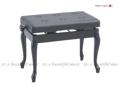 日本製!優雅なネコ脚のピアノ椅子・甲南Konan V60-C(V60C)黒色