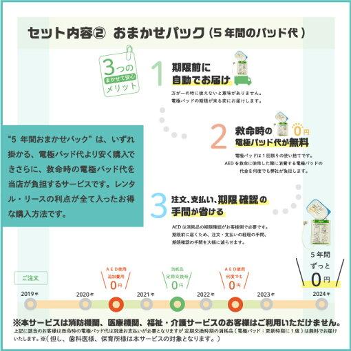 AED消耗品おまかせパック(5年間)
