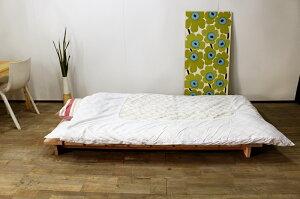 国産無垢すのこベッドスノコベッドシングルシングルベッドスノコベットローベッドヘッドレス日本製木製国産杉ボーダーベッド