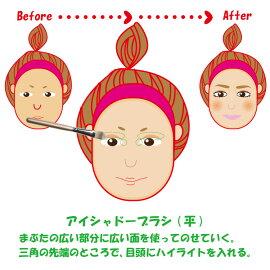 熊野筆メイクブラシアイシャドー・ブラシ(平)/イメージアップブラシ