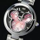 ミッキー85周年記念 天然ダイヤモンド腕時計 フェイスウォッチ ピンク