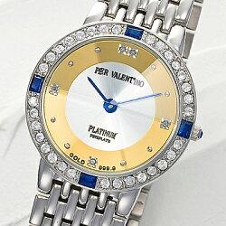 ペレバレンチノ天然ダイヤモンド宝飾腕時計メンズ