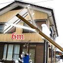 楽らく雪下ろし3点セット6m 雪庇落としプラス凍雪除去 トリプルセット 角度調節付 日本製 ブラウン【大型送料込み】