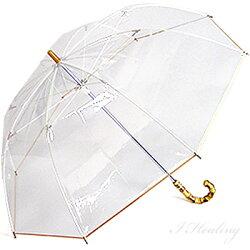 シンカテールクラシックビニール傘長傘ホワイトローズ雨傘日本製【送料無料】