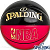 フリースタイルバスケットボール7号SPALDINGアンダーグラスブラックレッドエナメルボールスポルディング74-653J