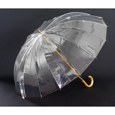 新かてーる16 新しいホワイトローズ社の究極のビニール傘 グラスファイバー丈夫な傘 透明傘雨傘...