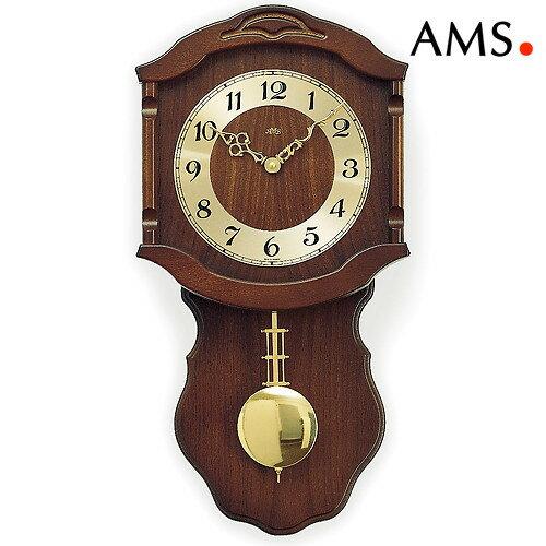 ドイツAMS964ウォールナット1 振り子時計 AMSアームス社ドイツ製:アイヒーリング