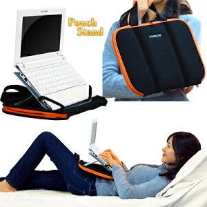 ネットブックスタンドとポーチポーチスタンド(iPad・ネットブック用)