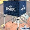 スポルディングボールカートナイロン折りたたみ式バスケットボール15個入れボールカゴネイビーSPALDING63-763Z